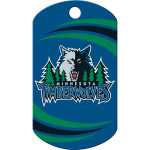 Minnesota Timberwolves Chrome Large Military ID Quick-Tag