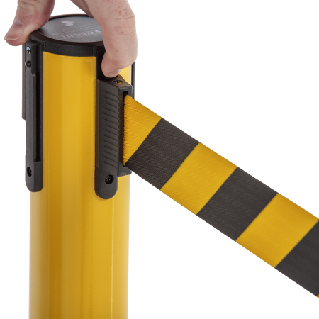 Premium Steel Stanchion - Yellow with CYB belt 16