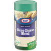 Kraft 100% Grated Three Cheese Blend Shaker 8 oz Jar
