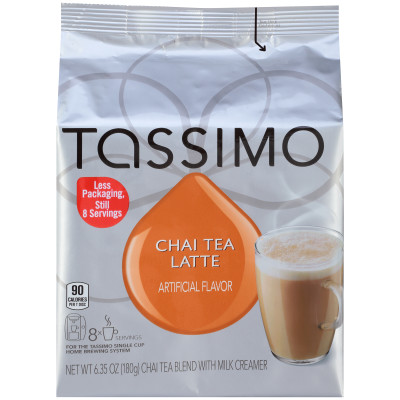 Tassimo Twinings Chai Tea Latte T Discs Capsule 2 - 6.35 oz Wrappers