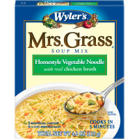 Wyler's Mrs. Grass Homestyle Vegetable Noodle Soup Mix 4.2 oz Box image