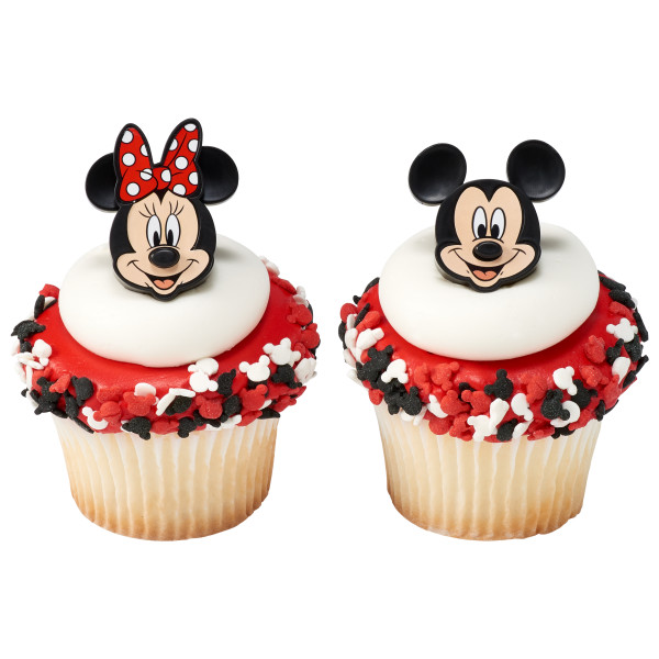 Mickey Mouse and Minnie Mouse Cupcake Rings
