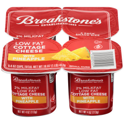 Breakstone's Small Curd 2% Milkfat Low Fat Cottage Cheese with Pineapple 4ct 16.0 oz