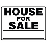"House For Sale Sign Black and White (20"" x 24"")"