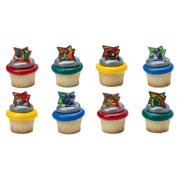 Power Rangers Dino Charge Cupcake Rings Decopac