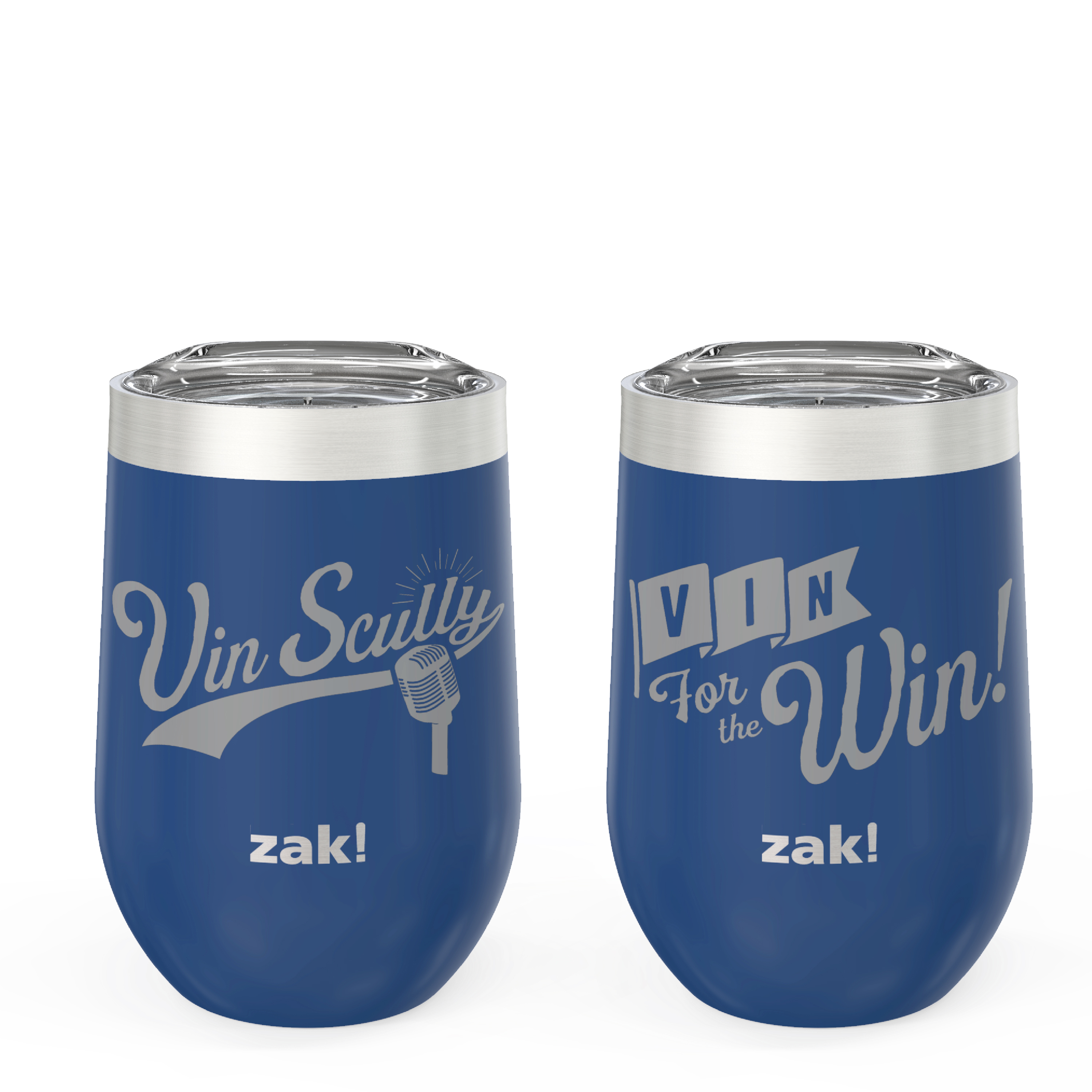 Zak Hydration 11.5 ounce Insulated Stainless Steel Tumbler, Vin Scully, 2-piece set slideshow image 1