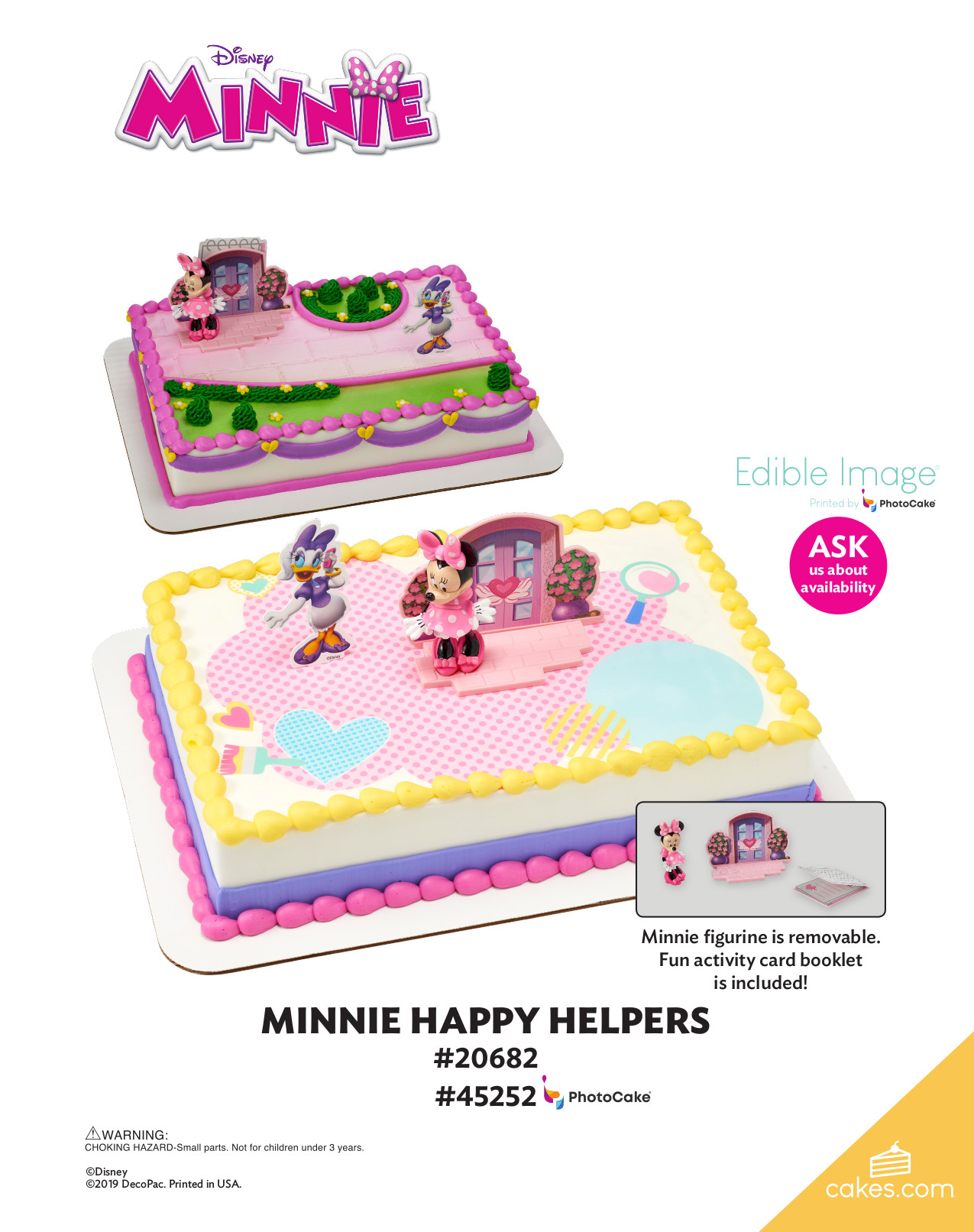 Minnie Mouse Happy Helpers Decoset 174 The Magic Of Cakes