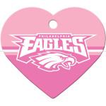 Philadelphia Eagles Pink Large Heart Quick-Tag