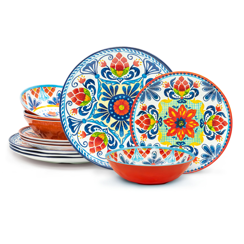Medallion Dinnerware Set, Warm, 12-piece set slideshow image 1