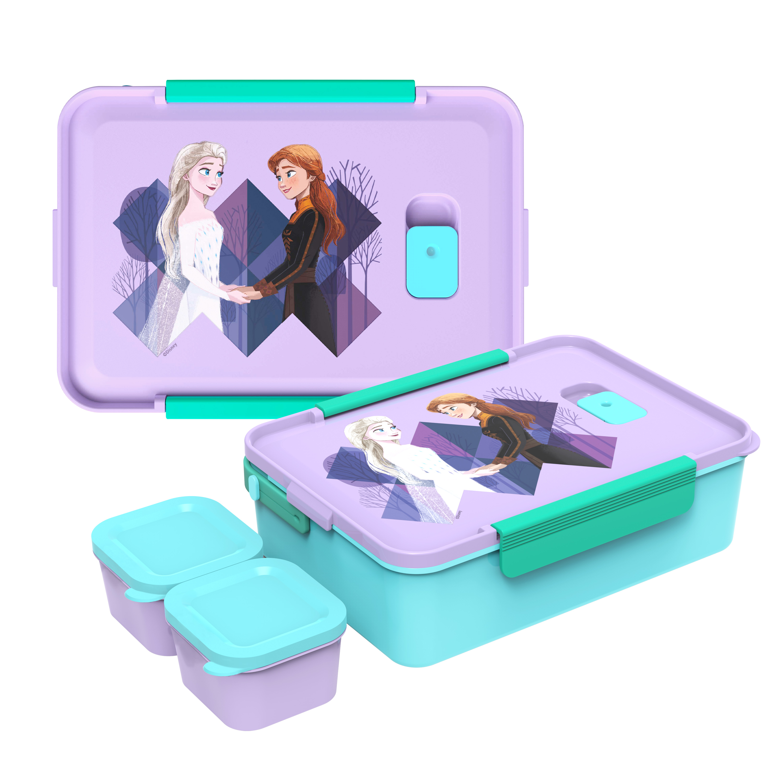 Disney Frozen 2 Movie Reusable Divided Bento Box, Elsa and Anna, 3-piece set slideshow image 1