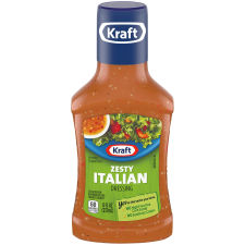 Kraft Zesty Italian Dressing 8 fl oz Bottle