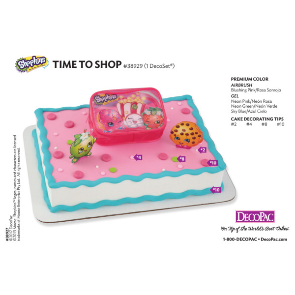 Shopkins™ Time to Shop Cake Decorating Instruction Card