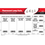 Fluorescent Lamp Parts Assortment (Holders, Machine Screws, Square Nuts)