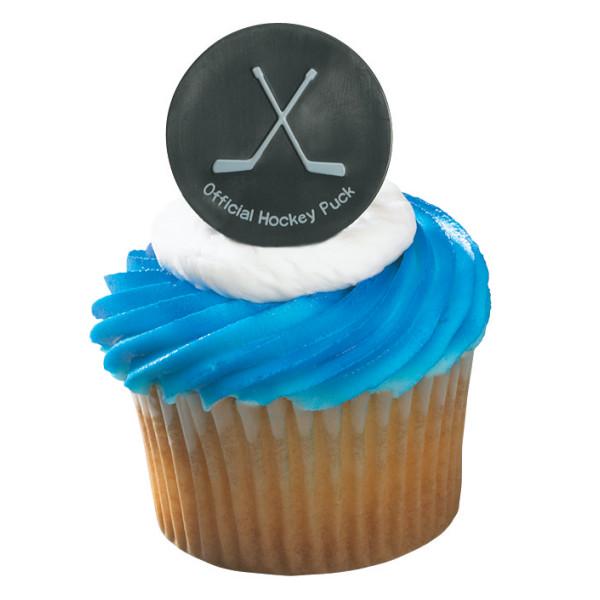 Hockey Puck Cupcake Rings