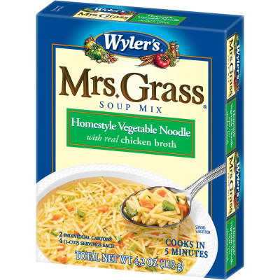 Wyler's Mrs. Grass Homestyle Vegetable Noodle Soup Mix 4.2 oz Box