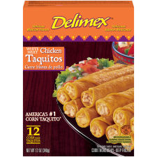 Delimex White Meat Chicken Taquitos 12 count Box