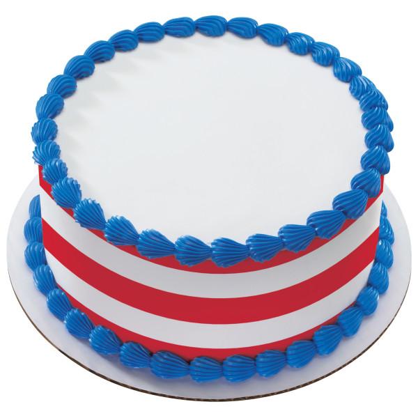 Nautical Red Stripes PhotoCake® Edible Image® Strips
