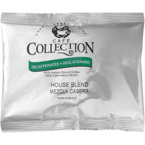 CAFÉ COLLECTIONS House Blend Roast & Ground Decaf Coffee, 5 oz. (Coffee) Pack of 45 image