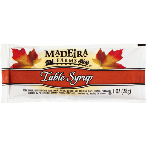 MADEIRA FARMS Single Serve Table Syrup, 1 oz. Packets (Pack of 100)