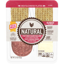 Oscar Mayer Natural Uncured Hard Salami & White Cheddar Meat & Cheese Plates 3.3 oz Tray