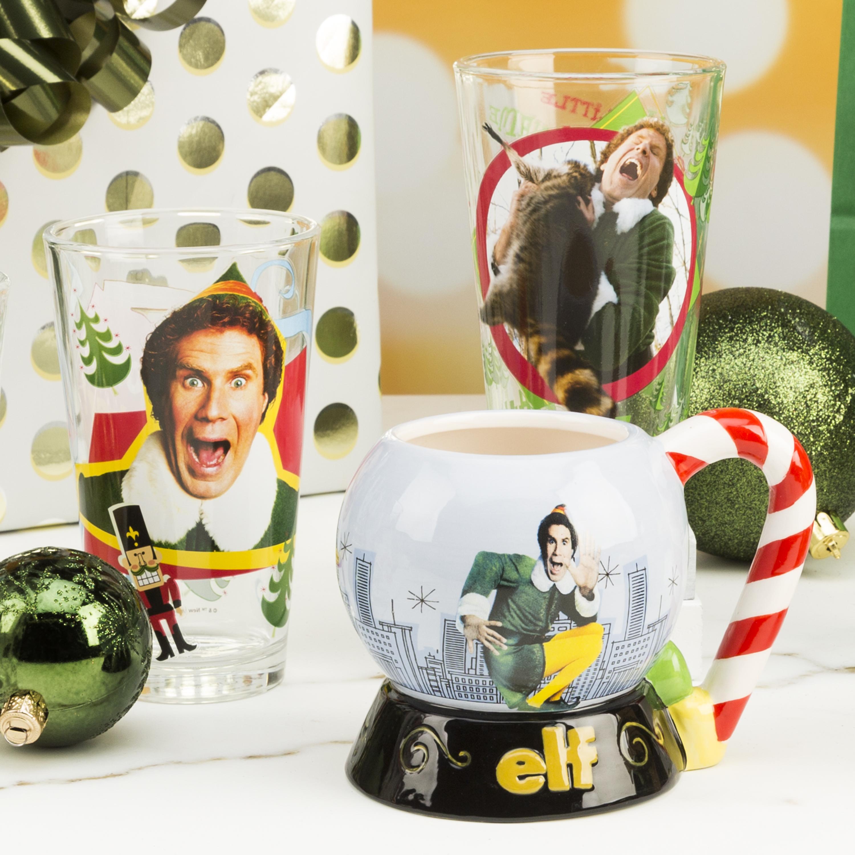 Christmas Glassware 16 ounce Pint Glasses, Elf, 2-piece set slideshow image 3