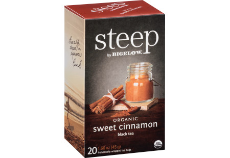 sweet cinnamon black tea - case of 6 boxes- total of 120 teabags