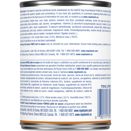 Royal Canin Veterinary Diet Canine Fiber Canned Dog Food