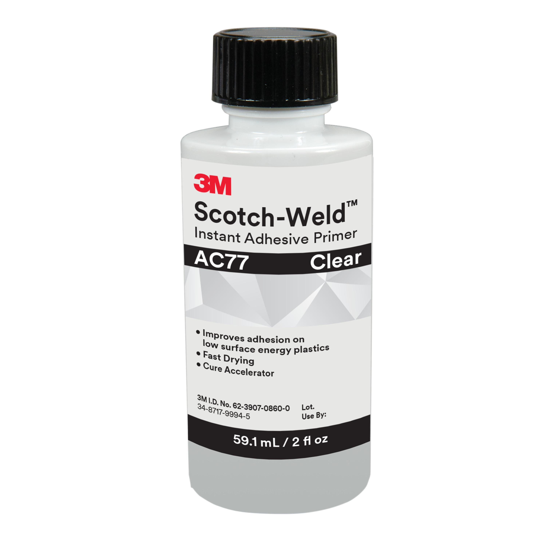3M™ Scotch-Weld™ Instant Adhesive Primer AC77, Clear, 2 fl oz Bottle, 10/case