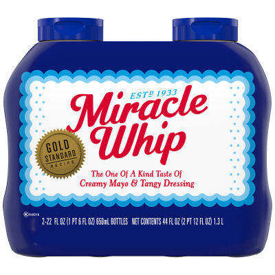 Miracle Whip Original Dressing 2 - 22 fl oz Squeeze Bottles