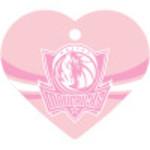 Dallas Mavericks Pink Large Heart Quick-Tag