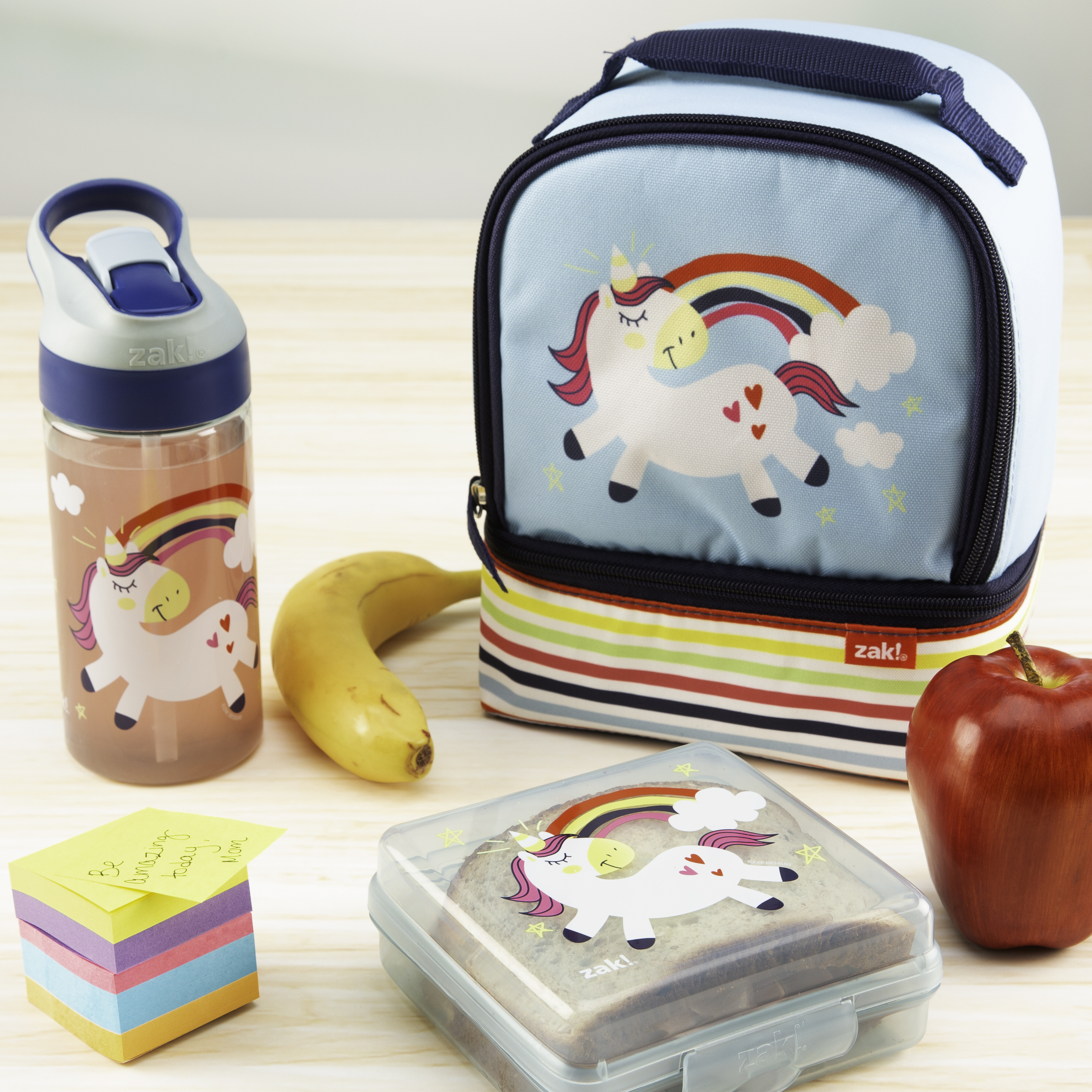 Happy Things Reusable Hinged Food Container, Unicorns slideshow image 3