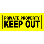 "Private Property Keep Out Sign, 6"" x 15"""