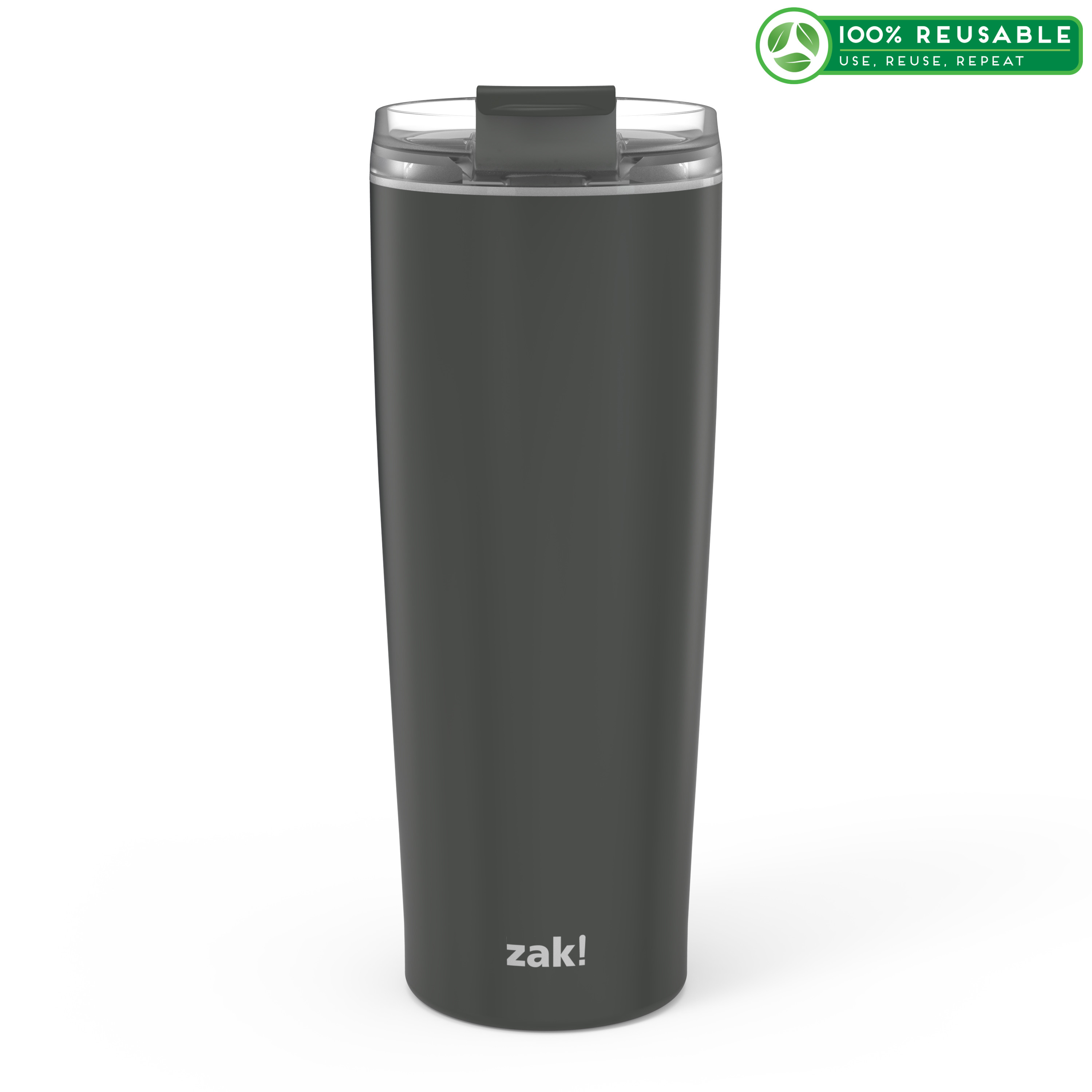 Aberdeen 24 ounce Vacuum Insulated Stainless Steel Tumbler, Charcoal slideshow image 1