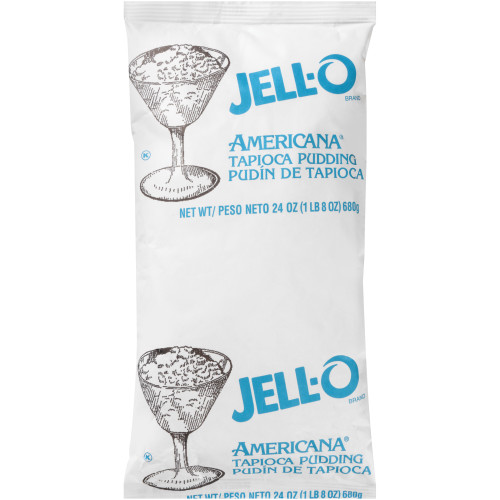 JELL-O Tapioca Pudding, 24 oz. Pouch (Pack of 12)