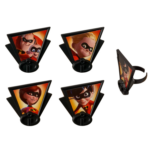 Incredibles 2 Dynamic Family Cupcake Rings