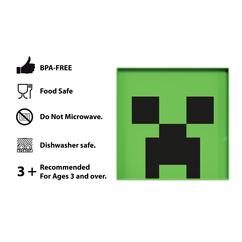 Minecraft Kids Dinnerware Set, Creeper and Ghost, 4-piece set slideshow image 8