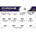 Chrome Metric Bolt Caps Assortment (M6 thru M10)