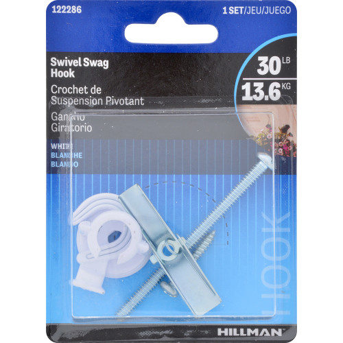 Hillman Swivel Ceiling Hook White
