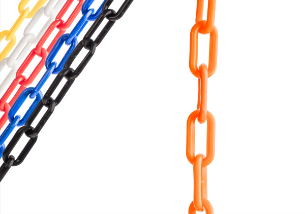 "Orange 2"" Plastic Chain Ft. SunShield - 10' Bag 1"