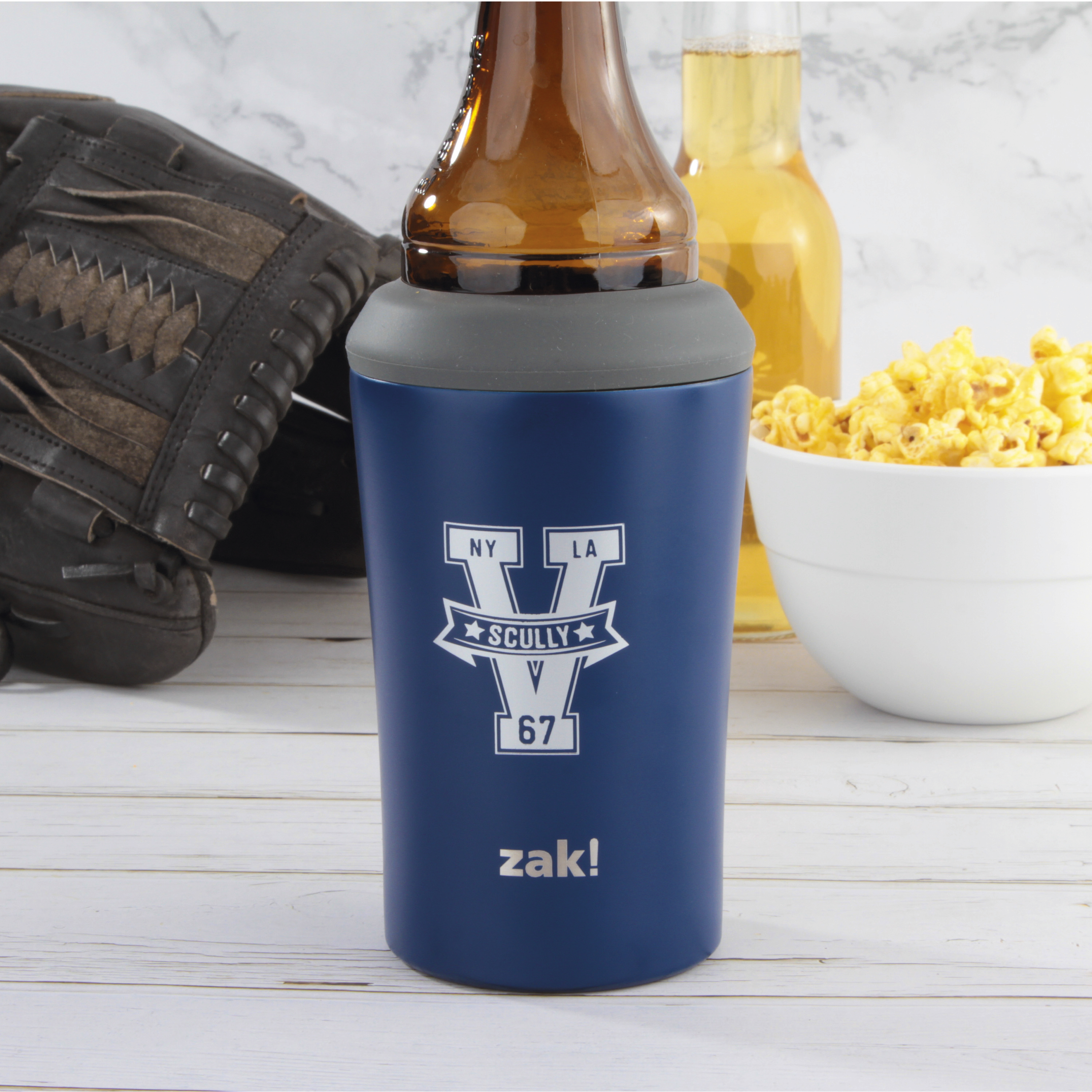 Zak Hydration 12 ounce Double Wall Stainless Steel Can and Bottle Cooler with Vacuum Insulation, Vin Scully slideshow image 2