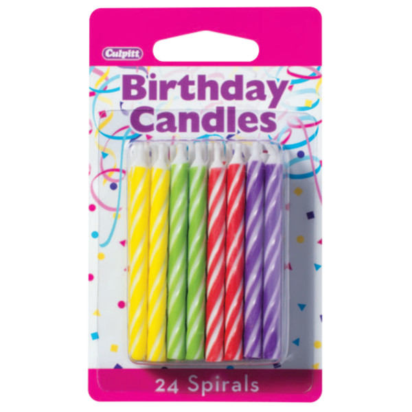 Brights Smooth & Spiral Candles