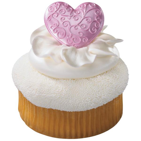 Fancy Hearts Gum Paste Layon