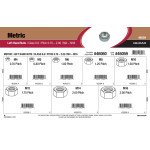 Class 8.8 Metric Left Hand Nuts Assortment (M4-0.70 thru M16-2.00)