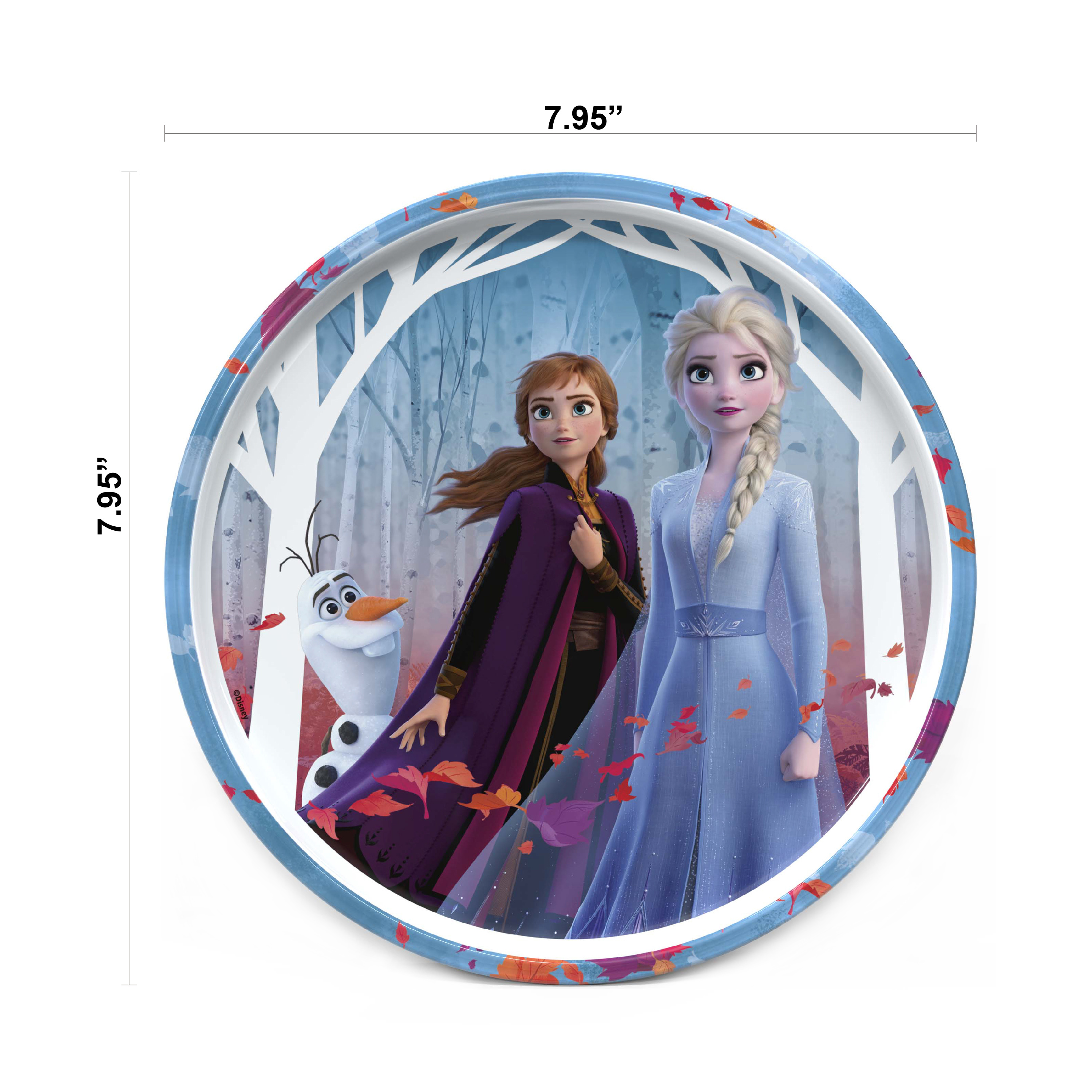 Disney Frozen 2 Movie Dinnerware Set, Anna and Elsa, 5-piece set slideshow image 7