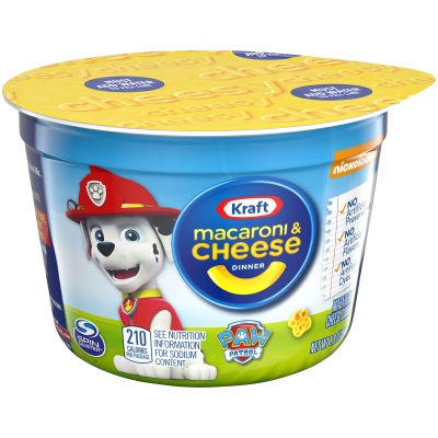 Kraft Paw Patrol Shapes Macaroni & Cheese Dinner 1.9 oz. Microcup