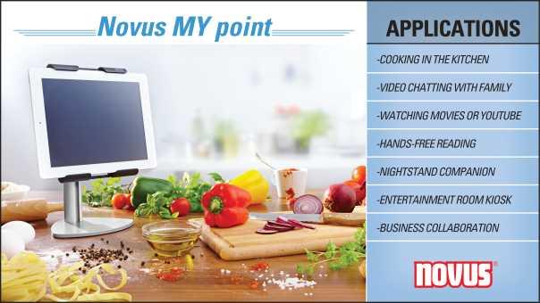 Novus MY Point Tablet Holder InfoGraphic