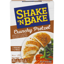 Kraft Shake 'n Bake Crunchy Pretzel Seasoned Coating Mix, 4.6 oz Box