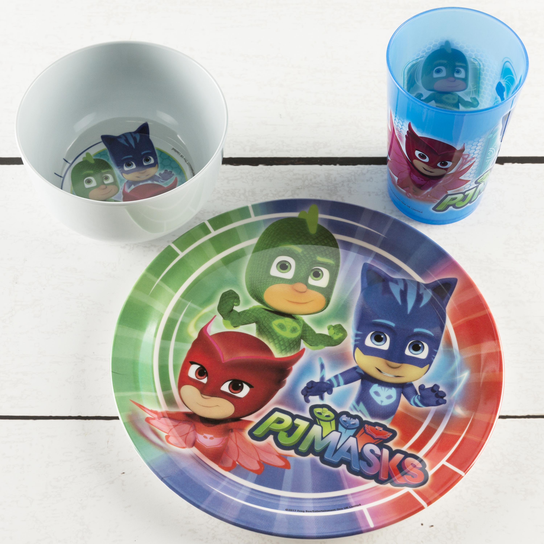 PJ Masks Dinnerware Set, Catboy, Owlette & Gekko, 5-piece set slideshow image 3
