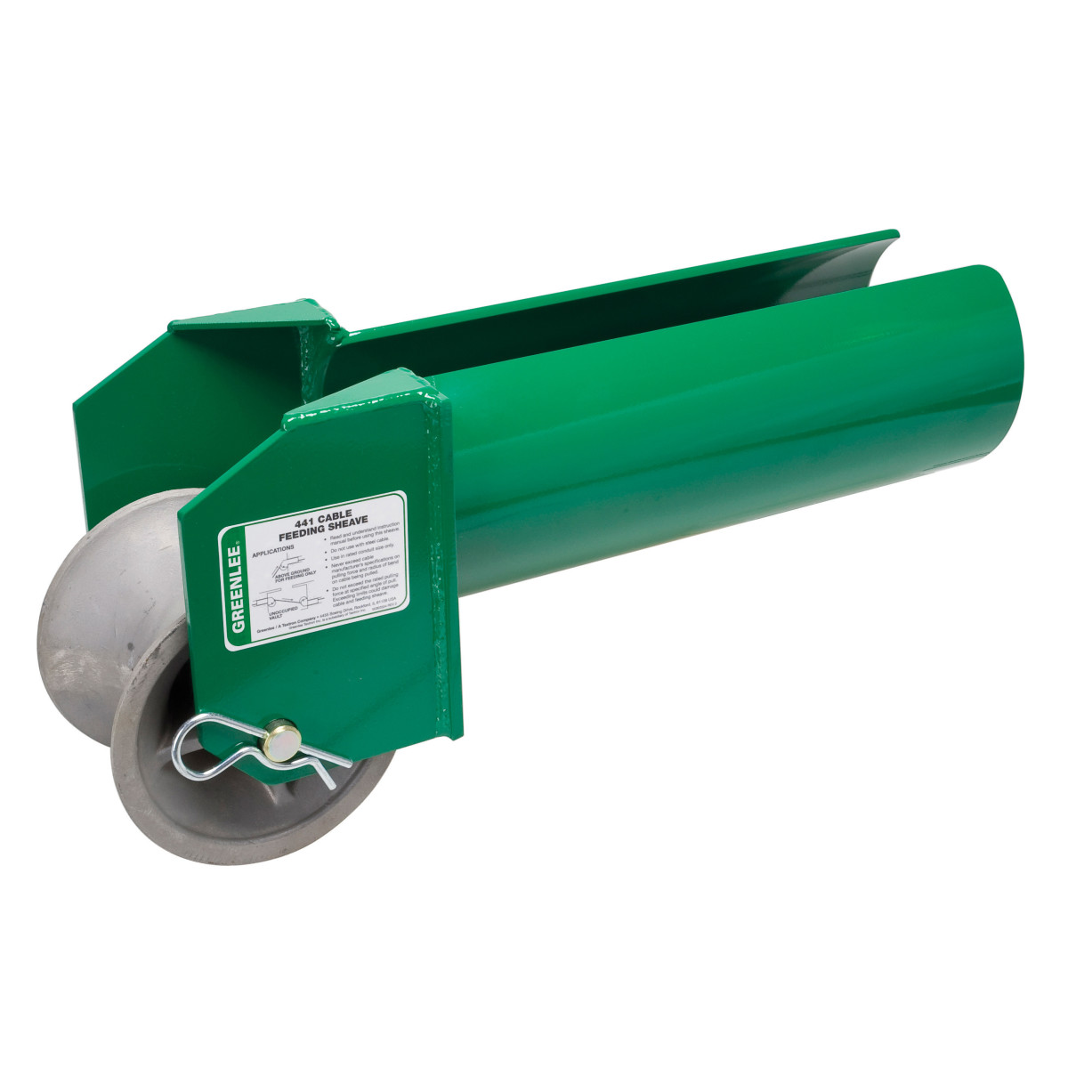 "Greenlee 441-6 Cable Feeding Sheave, 6"" Conduit"