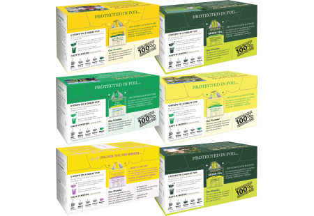 Back panels  of Mixed Case of Cold & Flu Teas - 6 boxes